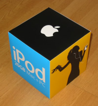 A picture of the iPod outer packaging