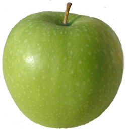 A picture of a Granny Smith apple