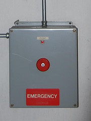 A picture of an emergency button