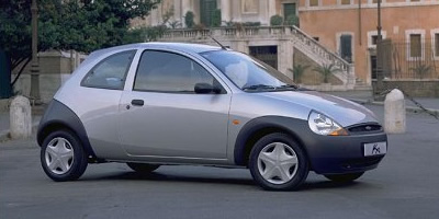 A picture of the side of a silver Ford Ka