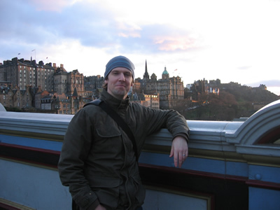 A picture of Ruby rookie John Conners in Edinburgh