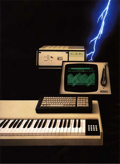 A picture of the pre-production Fairlight CMI Series 30A mockup