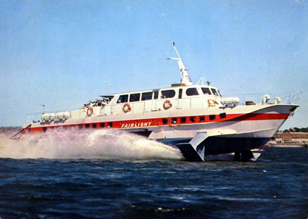 A picture of the original Fairlight hydrofoil