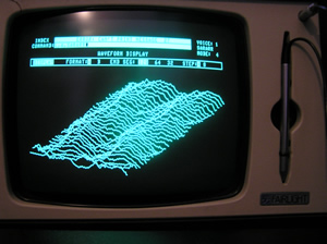 A picture of the Fairlight's Page D Waveform Display page