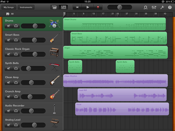 The GarageBand demo song